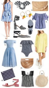 Summer style gingham