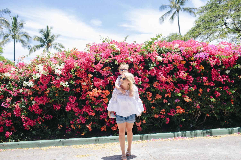 Flower wall in hawaii