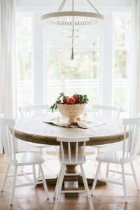 kitchen table with fall decor