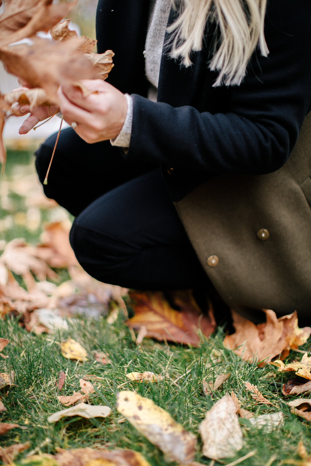 Fall Sequin Marks & Spencer Sweater and fall coat