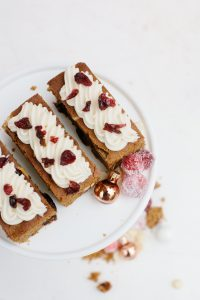 Cranberry Bliss Bar Recipe on stand