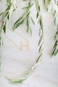 H letter necklace