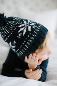 Toddler boy with toque
