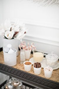 beverage station toppings in small cups