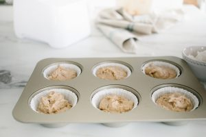 muffins in lined tin
