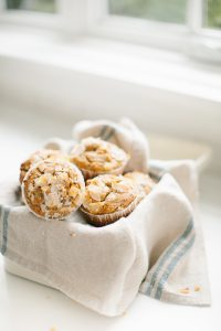 muffins by windowsill
