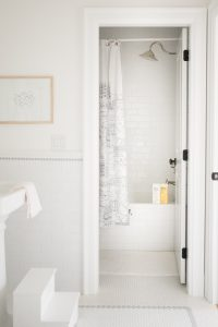 subway tile shower jack and jill bathroom