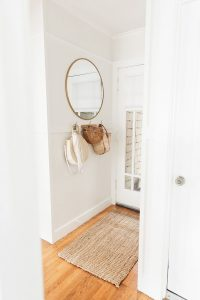 entry way with neutral bags