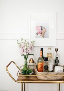 bar cart photo behind