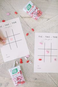 printable valentines tic tac toe card