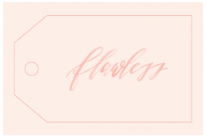 Printable tag for flowers