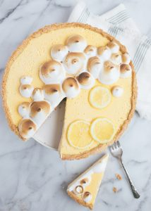 Lemon tart over head