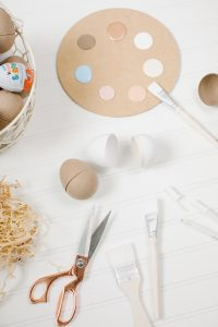 supplies for DIY paper easter eggs