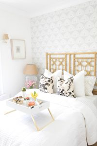 White and airy guest bedroom