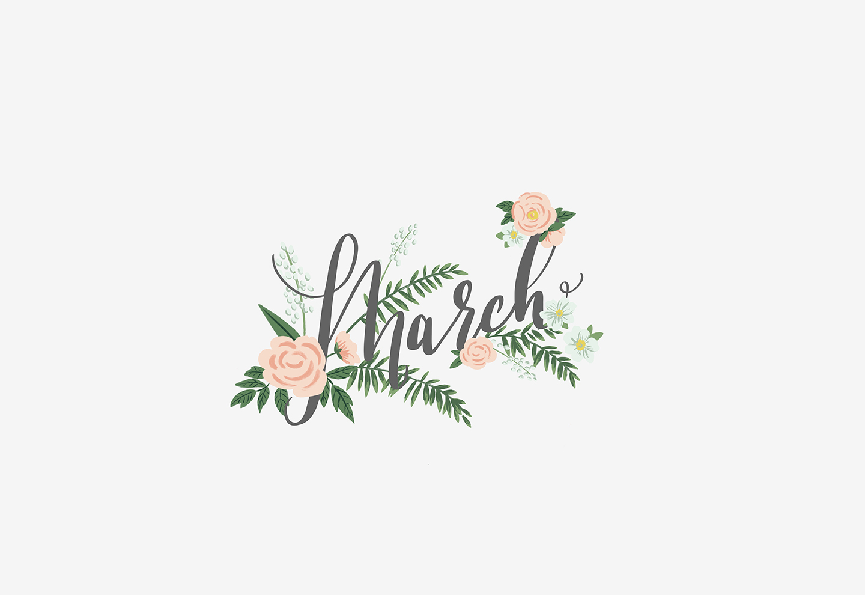 Hello March Digital Wallpaper Download Monika Hibbs