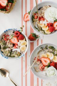 beautiful oatmeal bowls