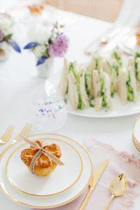 pretty gold flatware and tableware mothers day brunch