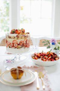 layered strawberry trifle