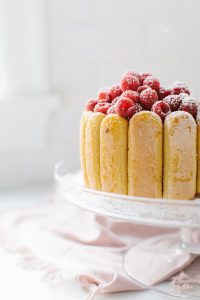 raspberry cake with lady fingers