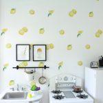 lemon wallpaper kids kitchen