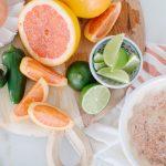 Ingredients for margarita