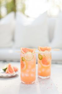 perfect pink grapefruit margarita
