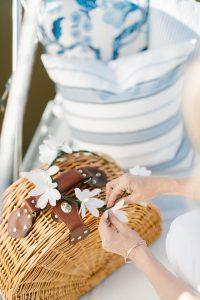 picnic basket on boat