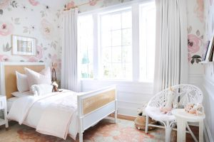 floral toddler girls bedroom