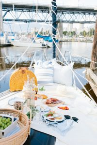 picnic on a sailboat