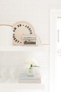 kitchen shelf with pretty details