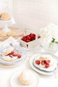 plated cornmeal shortcakes