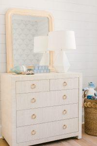 grasscloth dresser in nursery