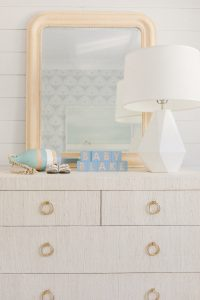 nursery dresser in coastal room