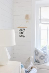 adventure sign in nursery