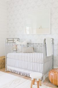 grey crib coastal nursery