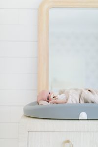 newborn on change table