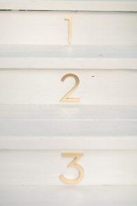 numbers on steps