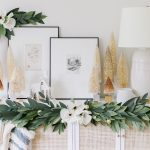 holiday crepe paper garland with magnolias
