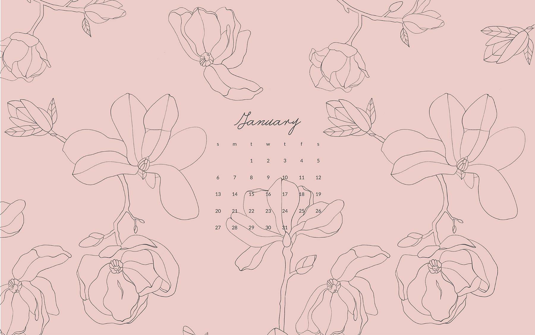 January Desktop Calendar Monika Hibbs