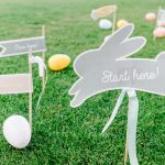 Easter egg hunt printable's in grass