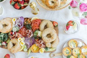 bagel board brunch set up