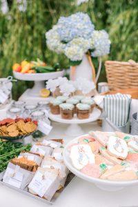peter rabbit themed table of treats