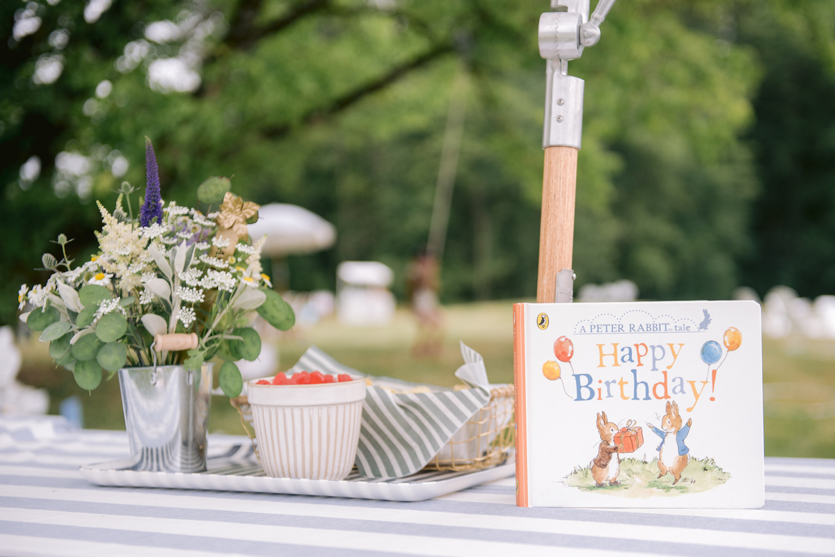 peter rabbit table display
