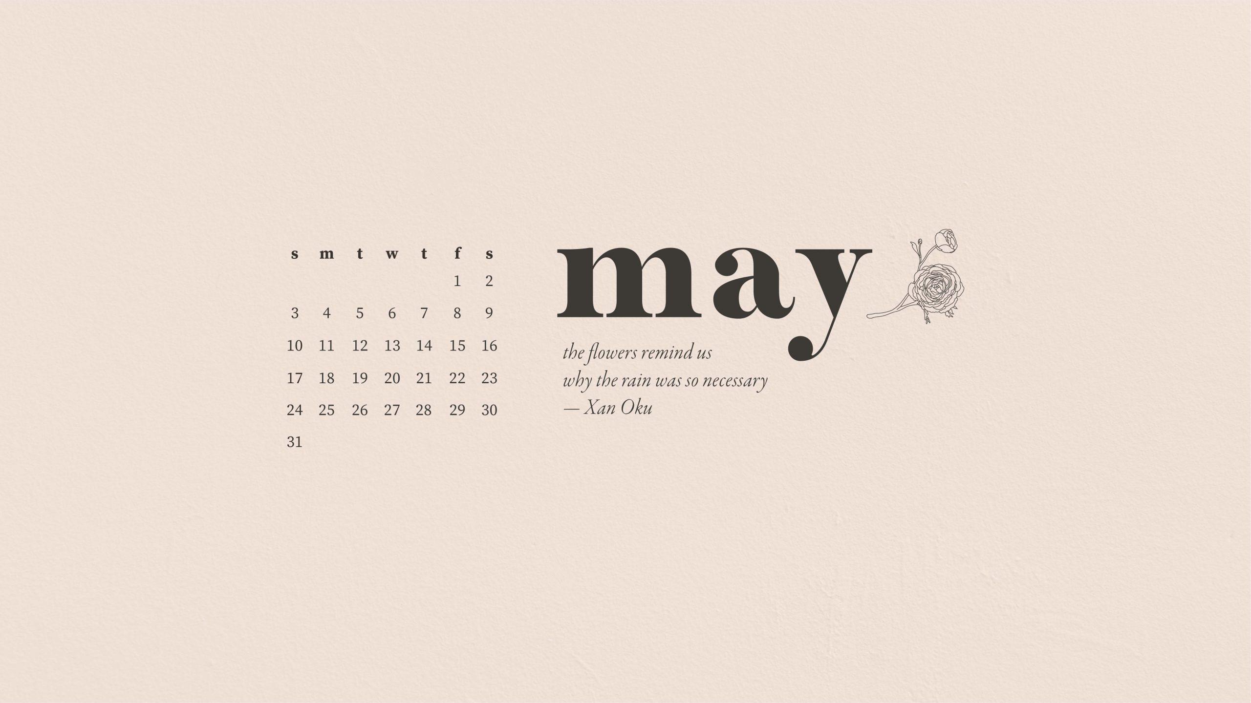 May 2020 digital desktop calendar ...